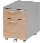 Caisson mobile 2 tiroirs 2 Gautier Office 420 x 580 x 590 mm Imitation hêtre