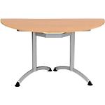 Table de réunion Modulo 140 x 70 x 75 cm Argenté, Imitation Hêtre