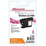 Cartouche jet d'encre Office Depot Compatible Brother LC1100M Magenta