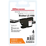 Cartouche jet d'encre Office Depot Compatible Brother LC1100BK Noir