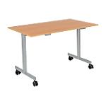 Table de réunion abattante 1200 x 700 x 740 mm Imitation Hêtre