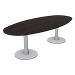 Table ovale London 1100 x 750 x 2400 mm Imitation wengé