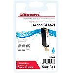 Cartouche jet d'encre Office Depot Compatible Canon CLI 521C Cyan