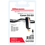 Cartouche jet d'encre Office Depot Compatible Canon CLI 521BK Noir