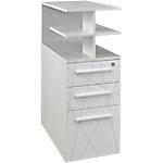 Caisson hauteur bureau Gautier Office Sunday 420 x 800 x 710 mm Blanc