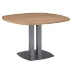 Table de réunion Gautier Office Sliver 115 (l) x 75 (P) x 75 (H) cm Imitation chêne, blanc