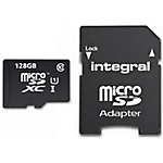 Carte mémoire MicroSD Integral UHS I Class10 128 Go microSDXC Noir