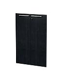 Portes pour bibliothèque Noir cendré Flora Imitation frêne noir 18 x 800 x 1154 mm Hauteur pas Réglable