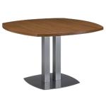 Table de réunion Gautier Office Sliver 115 (l) x 75 (P) x 75 (H) cm Imitation noyer, bronze