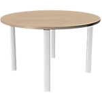 Table ronde Expert 1 200 x 1 200 x 720 mm Imitation chêne, blanc