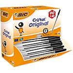 Stylo bille BIC Cristal 0.4 mm Noir   100 Unités