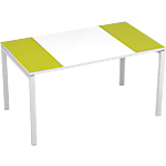 Bureau droit 4 pieds Paperflow EasyOffice Vert, blanc 1400 x 800 x 750 mm