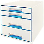 Module à tiroirs Leitz WOW 4 28,7 x 36,3 x 27 cm Bleu
