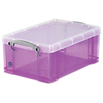 Boîte de rangement Really Useful Boxes 9 15,5 (H) x 25,5 (l) cm Violet