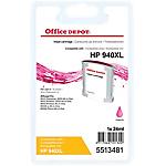 Cartouche jet d'encre Office Depot Compatible HP 940XL Magenta C4908AE