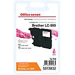 Cartouche jet d'encre Office Depot Compatible Brother LC985M Magenta