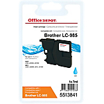 Cartouche jet d'encre Office Depot Compatible Brother LC985C Cyan
