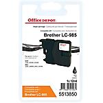 Cartouche jet d'encre Office Depot Compatible Brother LC985BK Noir