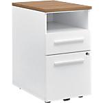Poste de travail Gautier Office TopLine 600 x 420 x 740 mm Imitation merisier, blanc