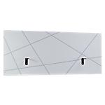 Écran de séparation Gautier Office Sunday Blanc En panneaux de particules revêtus de papier blanc graphic