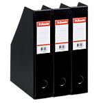 Porte revues Esselte Boîtes pliantes filmée PVC Noir   3 Unités