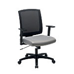 Siège de bureau ergonomique Mécanisme synchrone Realspace Karl Economy Noir, gris