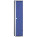 Vestiaire Industrie Salissante 1 colonne   Elément départ 40 (L) x 50 (l) x 180 (H) cm Bleu