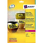 Étiquettes polyvalentes AVERY Zweckform L6111 Jaune 20 étiquettes