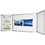 Tableau blanc triptyque Legamaster Economy 100 (H) x 40 (l) x 1,3 (P) cm