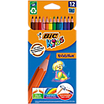 Crayons de couleur BIC Evolution Assortiment   12 Unités