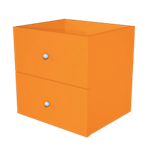 Lot de 2 tiroirs Burocolor Orange   2 Unités