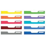 10 frontons colorés Exacompta Modulodoc Taille normale H.54 mm