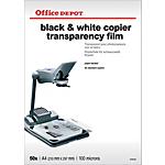 Transparents de rétroprojection 100 µm Office Depot A4 21 x 29,7 cm   50 Feuilles