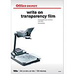 Transparents de rétroprojection 100 µm Office Depot A4 21 x 29,7 cm   100 Feuilles