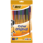 Stylo bille BIC Cristal original Assortiment   10 Unités