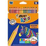 Crayons de couleur BIC Kids Tropicolors Assortiment   18 Unités