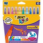 Feutre de coloriage BIC Kids Visaquarelle Assortiment   10 Unités