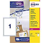 Étiquettes d'adresses Avery L7167 100 A4 Blanc 199,6 x 289,1 mm 100 Feuilles de 1 Étiquettes