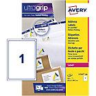 Étiquettes d'adresses Avery L7167 100 A4 Blanc 199,6 x 289,1 mm 100 Feuilles de 1 Étiquette