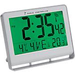 Horloge radio pilotée Alba 20 cm x 3 cm x 15 cm Blanc