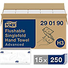 Essuie mains Tork Délitables Système H3 2 épaisseurs Pliage en V Blanc   15 Unités de 250 Feuilles