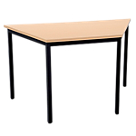 Table trapézoïdale Niceday 120 (l) x 60 (P) x 75 (H) cm Noir, imitation hêtre