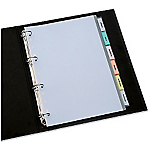 Intercalaires Avery 5612501 A4 Transparent 8 intercalaires Polypropylène onglets imprimables