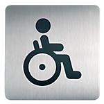 Plaque de porte Acier inoxydable Toilettes handicapés DURABLE 15 (H) x 15 (l) cm