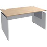 Bureau ajustable Adjust 1400 x 800 x 820 mm Imitation chêne, blanc