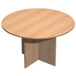 Table de réunion Quadra 1200 x 1200 x 720 mm Imitation hêtre