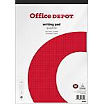 Bloc notes Office Depot A4 Quadrillé Blanc   10 Unités de 50 Feuilles