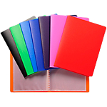 Protège documents soudé Exacompta Opaque Polypro 20 Pochettes A6 Coloris aléatoire