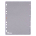 Intercalaires Office Depot A4 6 intercalaires Gris