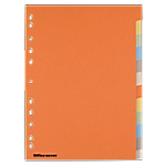 Intercalaires colorés inscriptibles Office Depot A4 6 couleurs 12 intercalaires Perforé Carton Manilla Vierge